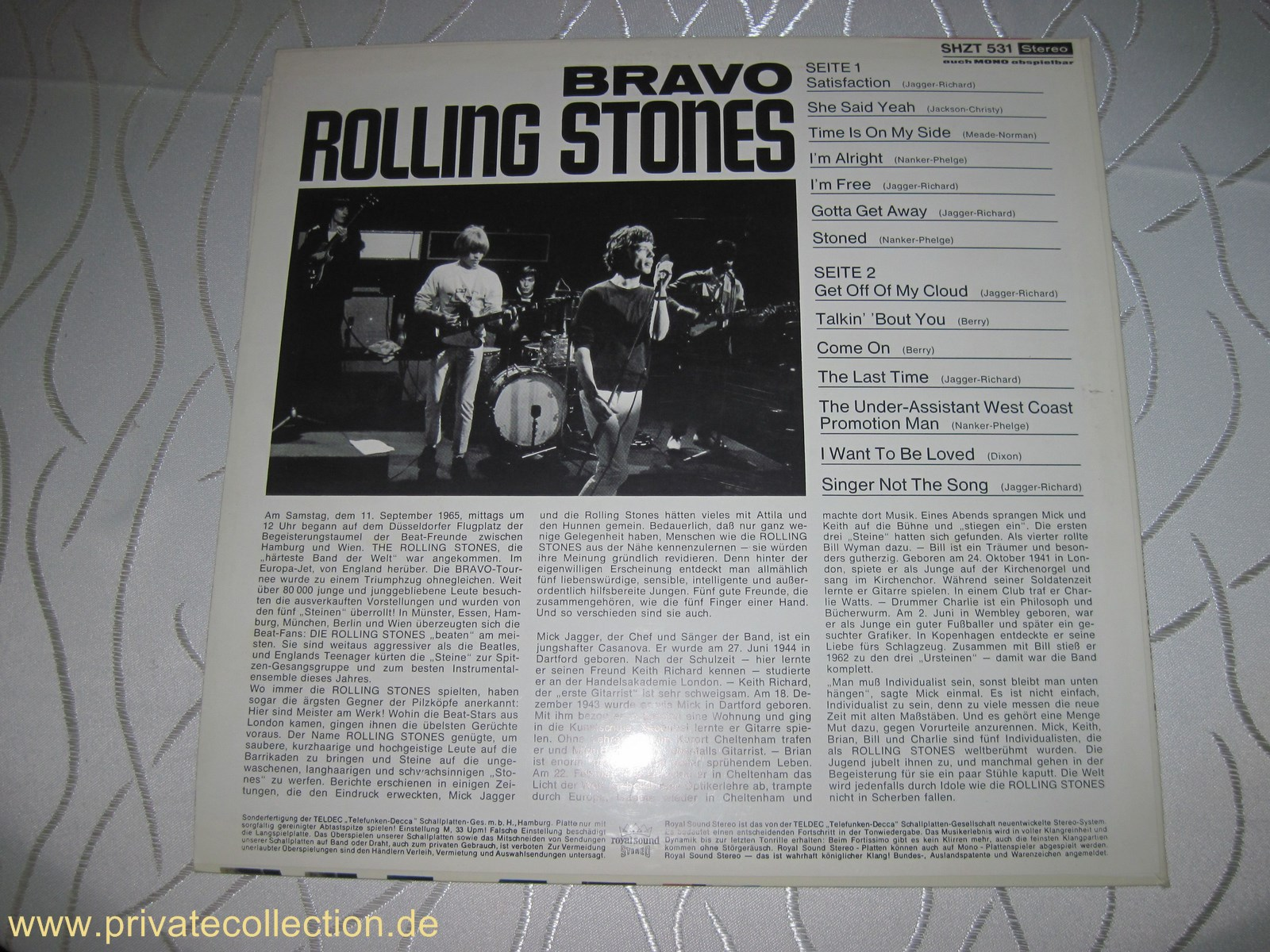 Lp Vinyl The Rolling Stones Bravo H 246 R Zu 1965 Wie Neu