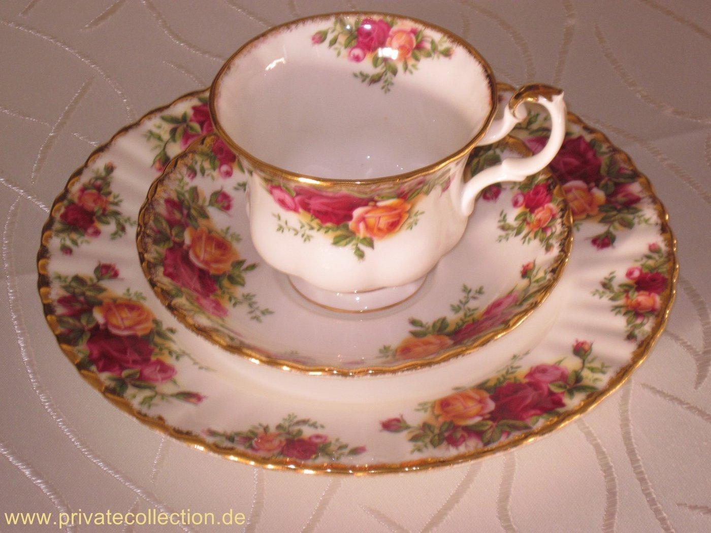 kaffeegedeck royal albert old country roses bone china top. Black Bedroom Furniture Sets. Home Design Ideas