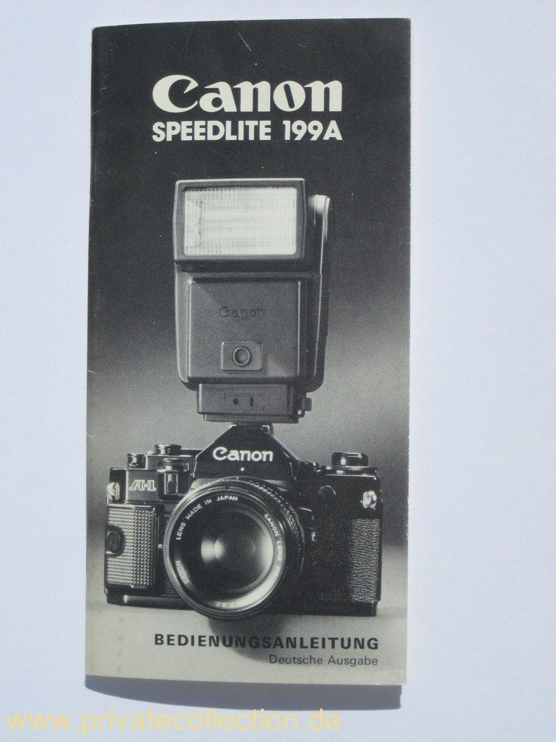User Manual Canon Speedlite 199a German