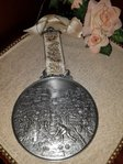 Pewter WMF plate hanger wall decoration