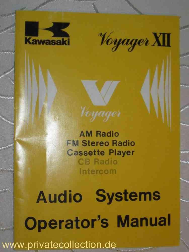 Kawasaki Voyager Clarion Radio Audio Systems Anleitung