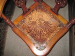 Corner chair Vintage original condition with leather Map