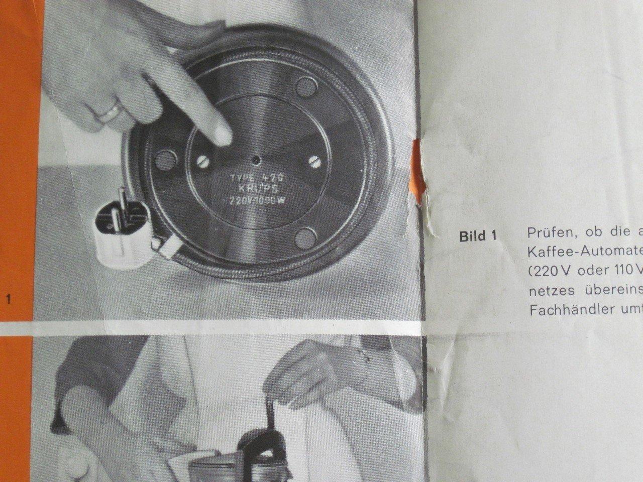 krups coffee machine instructions