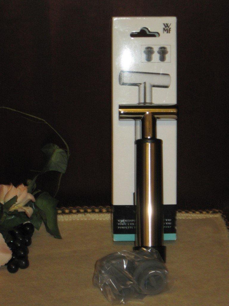wmf weinpumpe mit 2 verschl ssen vino cromargan edelstahl. Black Bedroom Furniture Sets. Home Design Ideas